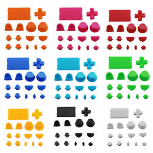 Durable Replacement Parts Solid Color Buttons Kits for PS4 Controller Gamepad