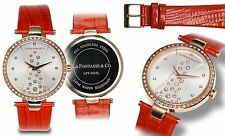 NEW La Fontaine & Co LFT-0425L Women's Starlight Ladies Watch Coral Rose Gold