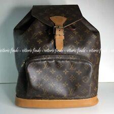Authentic Louis Vuitton Montsouris GM Monogram Canvas Shoulder Hand Bag