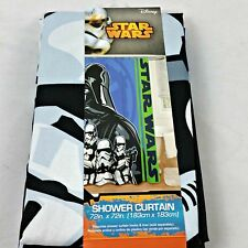 """Star Wars Shower Curtain Darth Vader & Storm Troppers Fabric 72""""x72"""" NEW"""