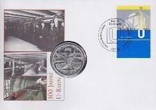 BRD 10 EURO Sondermünze Numisbrief 100 Jahre Berlin U-Bahn 2002