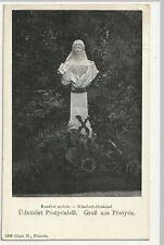 Pöstyen, Piestany, Elisabeth Denkmal, alte AK ca. 1906 gel.