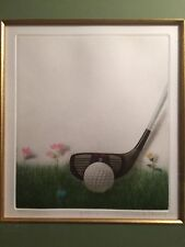 Kyu-Baik Hwang, Golf, Mezzotint on Paper/ Print Signed and Numbered 60/100