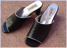 PUMPS 39 MEXX wNeu Leder schwarz grau Sandalette Chucks clog
