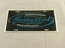 Harley Girl  - Metal Novelty License Plate Sign