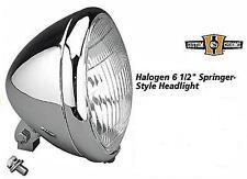 "HEADLIGHT SPRINGER-STYLE CHROME 6.5"" HALOGEN HARLEY FXSTS FLSTS 2000-2004"