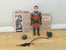 Vintage 1982 GI Joe Flash Near complete File Card Straight Arm