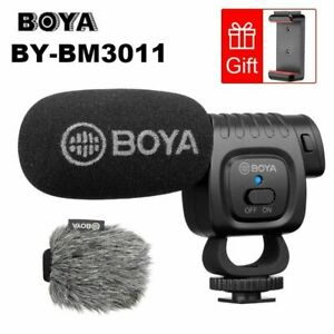 Boya BY-BM3011 Cardioid Condenser Microphone Audio Video For Camera Smartphone