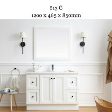 Hampton Country Style Bathroom Vanity Cabinet Unit 1200 mm with White stone top