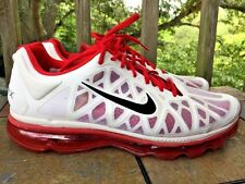 NIKE AIR MAX Summit White & RARE RED Basketball Athletic Walk Mens Shoes Sz 12