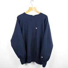 Vintage CHAMPION USA Navy Blue Reverse Weave Sweatshirt | Retro Wavey Sport | XL