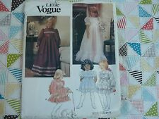 Little Vogue 1272 special occasion Christmas girls'  dress Sewing Pattern size 6