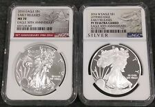 Set of 2016 $1 Silver Eagles MS70 & PF70UC 30th Anv - Stunning Flawless