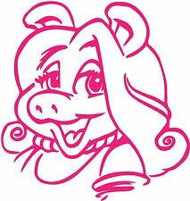 Miss Piggy Muppets Gloss Vinyl Car Sticker Auto Decal Graphic Wall Art 150x155mm