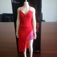"Women Female Dress Vest Skirt Clothes Fit 1/6 Resident Evil Red Suits 12"" Figure"