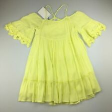 Girls Size 4 Witchery Yellow Tiered Halter Dress