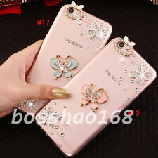 Bling Clear handmade Diamonds Crystal TPU Soft Back Case Cover Skin For Apple