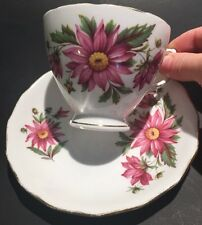Vintage Royal Vale Tea Cup and Saucer Set, Fine Bone China Made In England
