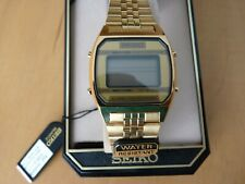 Seiko A904-5190 Alarm chronograph Gold   Quartz LCD  Watch