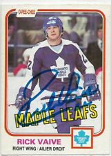 RICK VAIVE  Authentic Signed Autograph 1981 OPC Toronto Maple Leafs Hockey Card