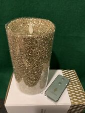 Luminara, Real Flame-effect Candle. Glitter Gold.