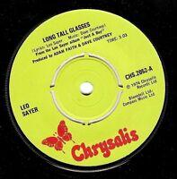 "LEO SAYER Long Tall Glasses 7"" Single Vinyl Record 45rpm Chrysalis 1974 EX"