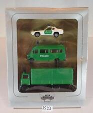 Herpa 1/87 7524 Set Fahrzeuge der Polizei  Mercedes Benz & Porsche OVP #3523