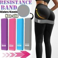Wide Hip Resistance Bands Loop Circle Exercise Workout Fitness Yoga Leg Gym