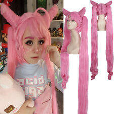 Sailor Moon CHIBI USA Black Lady Exttra Long Pink Straight Cospaly FUL Wig Zy116