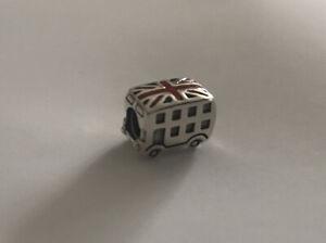 💎  New PANDORA Charm - Union Jack London Bus & Pouch S925 ALE 791049ER