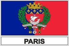 Autocollant sticker drapeau  paris