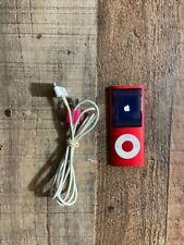 Apple IPod Nano A1285 4th Generation 8GB Red bundle + usb charger bundle