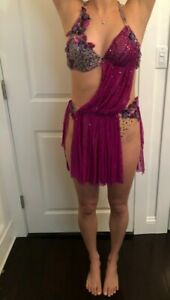 LYRICAL SOLO DANCE COSTUME ~ Handmade, Sequin, for Competition, Adult Size S/M