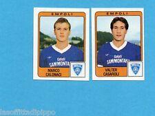 PANINI CALCIATORI 1984/85 -FIGURINA n.377- CALONACI+CASAROLI -EMPOLI-Rec