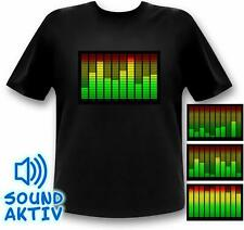 Equalizer LED Shirt Party Musik Festival Kleidung soundgesteuert T-Shirt Herren