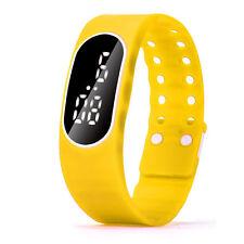 Mens Womens Sports Watch Thin Rubber LED Watch Date Bracelet Digital Wrist Watch