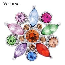 Snap Charms Vocheng 18mm Colorful Crystal Button Chunk Vn-544