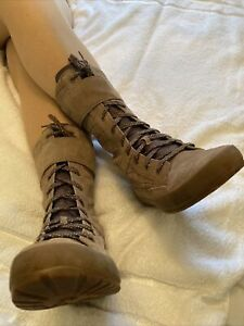 Timberland Brown Suede Mid Calf Lace Up Boots Size 7 EUR 40 US 9