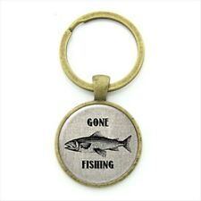 Bronze Gone Fishing Keyring Gift Fathers Day