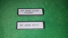 IGT S2000 IVC00097 Clear and IGT Key 17 EPROM Chips