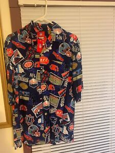New England Patriots AFC Button-Up NFL Medium Brand New Shirt With Tags