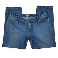 J Jill Denim Women 16 Petite Boyfriend Straight Leg Medium Wash Jeans Pants Blue