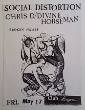 SOCIAL DISTORTION Original Flyer 1985 PunK Adolescents Mike Ness Rockabilly