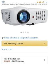 RCA RPJ129 Smart Wi-Fi LED Projector 720p #191 (USED ONCE)