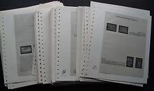 Albenblätter Lindner 100 Stück mit 2 Taschen für Briefe, Blöcke wie T-Blanko