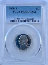 2000 S Jefferson Nickel Pcgs Proof Pr69Dcam Shipping $ on first coin only