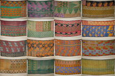 Wholesale Lot Quilt Bedspread India Kantha Patchwork Twin Bedding Throw Ralli