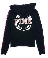 VICTORIA'S SECRET Pink Perfect Full Zip Limited Edition Hoodie Black NWT XSmall