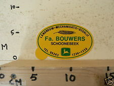STICKER,DECAL JOHN DEERE FA.BOUWERS SCHOONEBEEK TRACTOR