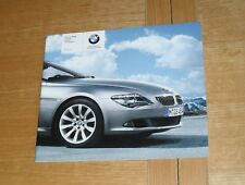 BMW 6 Series Coupe & Convertible Price Guide Brochure 2007 630i 650i 635d Sport